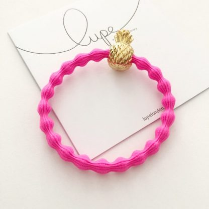 LUPE Gold Pineapple Neon Pink
