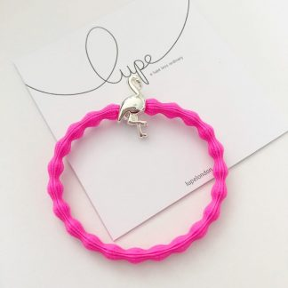 LUPE Silver Flamingo Neon Pink