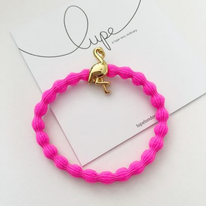 LUPE Gold Flamingo Neon Pink