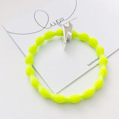 LUPE Silver Lightning Bolt Neon Lime