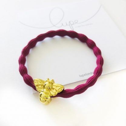 LUPE Gold Bee Burgundy