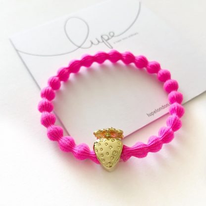 LUPE Gold Strawberry Neon Pink