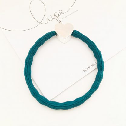 LUPE Silver Heart Teal