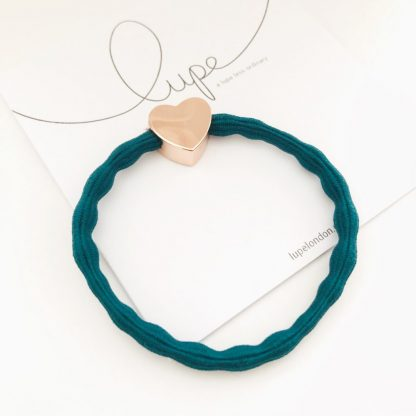 LUPE Rose Gold Heart Teal