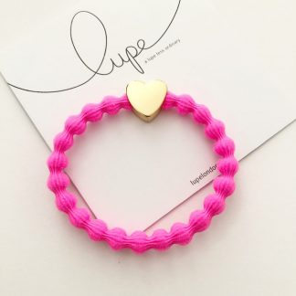 LUPE Gold Heart Neon Pink
