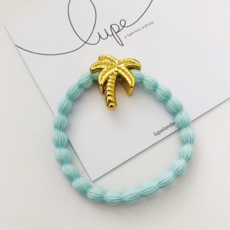 LUPE Gold Palm Tree Aqua