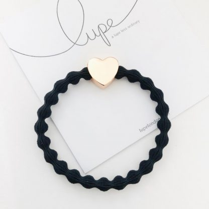 LUPE Rose Gold Heart Black