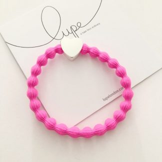 LUPE Silver Heart Neon Pink
