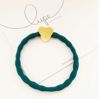 LUPE Gold Heart Teal