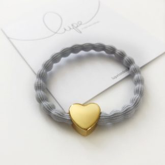 Lupe Heart Gold Light Grey