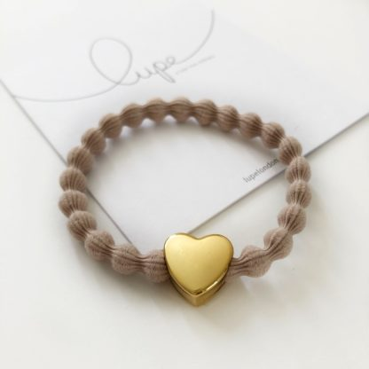 Lupe Heart Gold Taupe