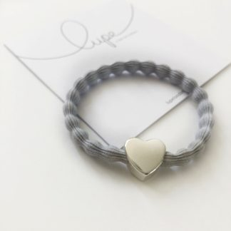 Lupe Heart Silver Light Grey