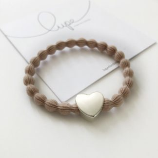 Lupe Heart Silver Taupe