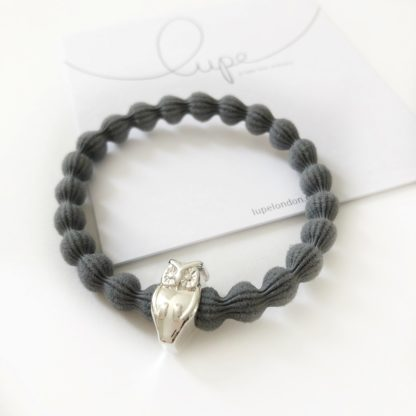 Lupe Owl Silver Dark Grey