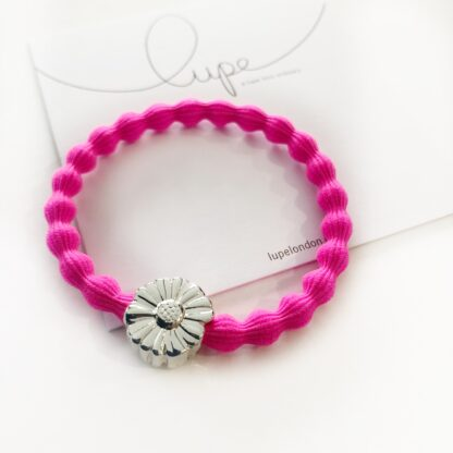 Lupe Flower Silver Neon Pink