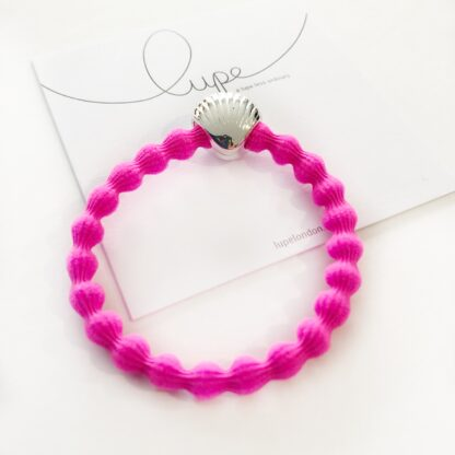 Lupe Shell Silver Neon Pink