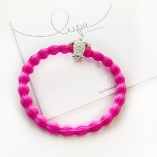Lupe Turtle Silver Neon Pink